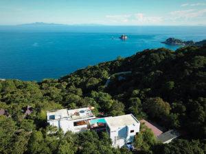 Villa De Kestrel, Koh Tao Villa, Drone Backview